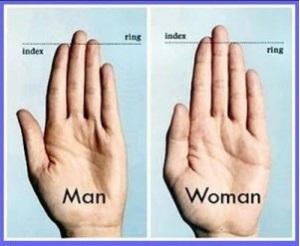 jari manis dan jari telunjuk
